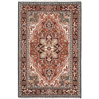 eCarpetGallery Hand-knotted Royal Heriz Brown Wool Rug (4' x 6')