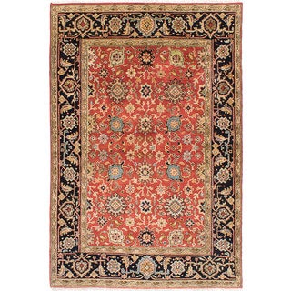 Hand-knotted Serapi Heritage Copper Wool Rug - 6'0 x 8'11