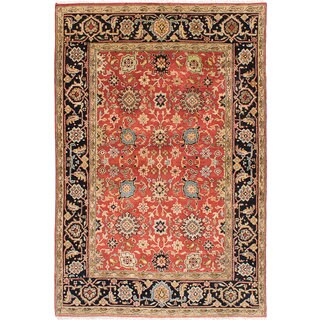 eCarpetGallery Hand-knotted Serapi Heritage Brown Wool Rug (6'0 x 8'11)