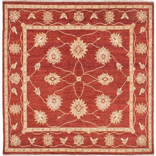 eCarpetGallery Chubi Collection Red Wool Hand-knotted Area Rug (6'4 x 6'5)