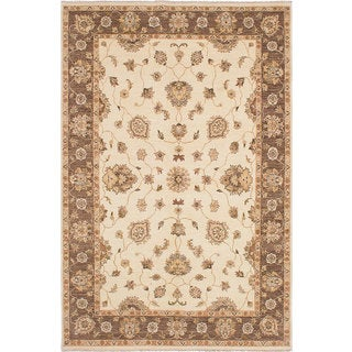eCarpetGallery Chobi Twisted Ivory Wool Hand-knotted Rug (6'8 x 10'0)