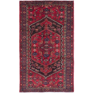 eCarpetGallery Hand-knotted Hamadan Red Wool Rug (4'1 x 7'3)
