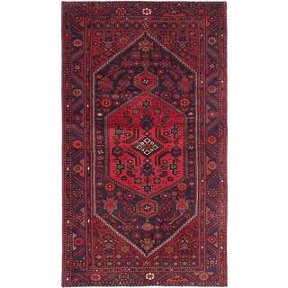 eCarpetGallery Red Wool Hand-knotted Zanjan Rug (4'4 x 7'7)