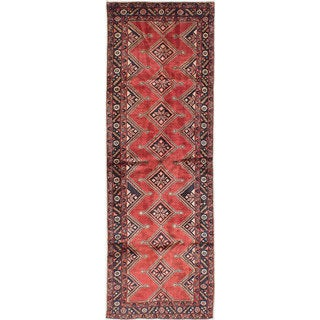 eCarpetGallery Hand-Knotted Koliai Red Wool Rug (3'0 x 9'3)