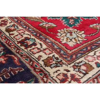 eCarpetGallery Tabriz Red Wool Hand-knotted Rug (11'3 x 14'3)