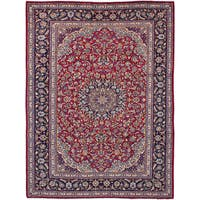 eCarpetGallery Isfahan Red Wool Hand-knotted Rug (9'6 x 12'11)