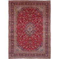 eCarpetGallery Hand-knotted Kashan Red Wool Rug (9'8 x 13'7)