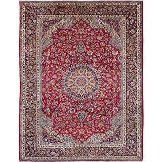 eCarpetGallery Hand-knotted Isfahan Red Wool Rug (10'2 x 13'3)