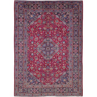 eCarpetGallery Hand-knotted Kashan Red Wool Rug (10'0 x 13'11)