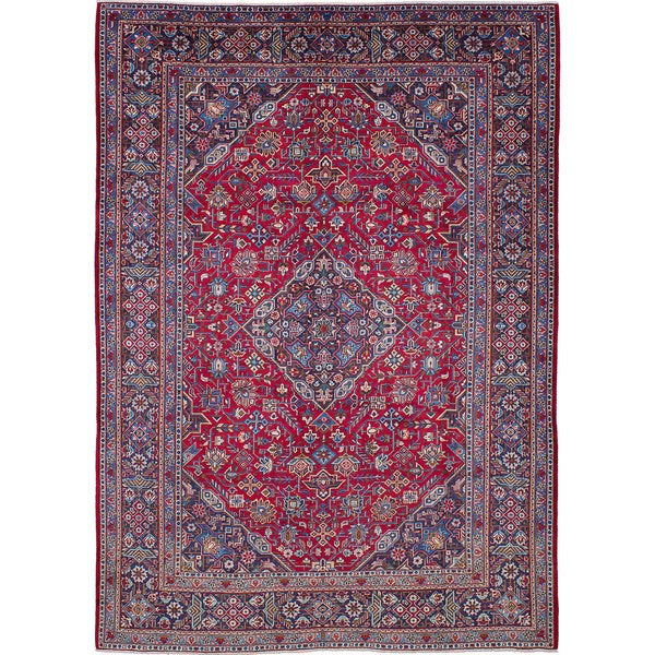Shop Ecarpetgallery Hand Knotted Persian Kashan Red Wool: Shop ECarpetGallery Hand-knotted Kashan Red Wool Rug (10'0