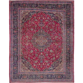 ecarpetgallery Hand-Knotted Kashmar Red Wool Rug (10'0 x 12'11)