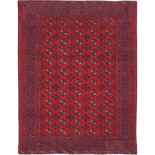 eCarpetGallery Persian Vintage Red Wool Hand-knotted Area Rug (9'9 x 12'10)