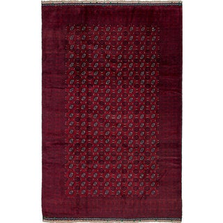 ecarpetgallery Hand-Knotted Rizbaft Red Wool Rug (6'8 x 10'2)
