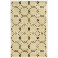 Rizzy Home Gillespie Avenue Ivory/Blue Viscose/Cotton/Wool Hand-tufted Accent Runner Rug (2'6 x 8') - 2'6 x 8'