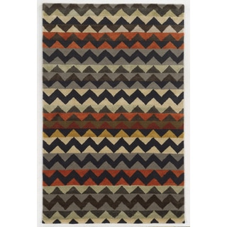 Rizzy Home Gillespie Avenue New Zealand Wool Hand-tufted Accent Rug (2'6 x 8)