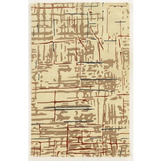 Rizzy Home Gillespie Avenue Beige New Zealand Wool Hand-tufted Runner Rug (2'6 x 8')