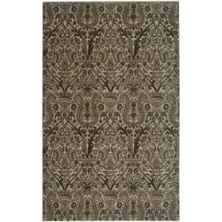 """Rizzy Home Galleria Collection Ivory/Brown Polypropylene Runner Accent Rug - 2'3"""" x 7'6"""""""