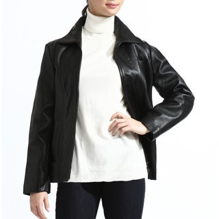 Women's Classic Black Lambskin Leather Jacket