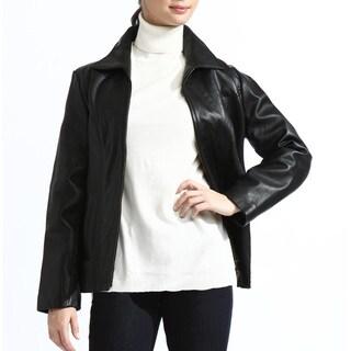 Link to Women's Classic Black Lambskin Leather Jacket Similar Items in Women's Outerwear