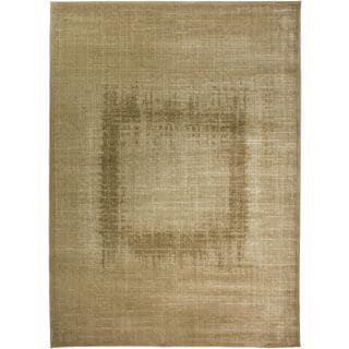 Rizzy Home Galleria Collection Traditional Cream/Beige/Brown Polypropylene Power-loomed Runner Accent Rug (2'3 x 8')