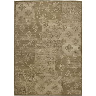 Rizzy Home Galleria Collection Traditional Gold/Brown Polypropylene Power-loomed Runner Accent Rug - 2'3 x 7'6
