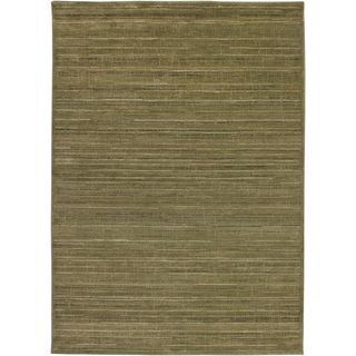 Rizzy Home Galleria Collection Tan/Green/Gold/Beige/Brown Polypropylene Power-loomed Runner Rug (2'3 x 7'6)