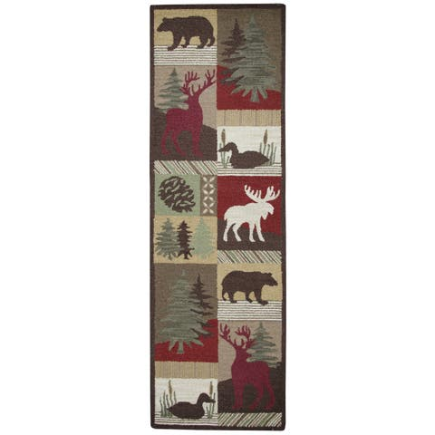 "Rizzy Home Country Collection Accent Runner Rug (2'6 x 8') - Multi-color - 2'6"" x 8'"