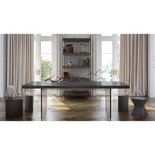 Berlin Pine and Lucite Dining Table - Grey