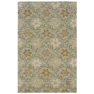 Rizzy Home Country Accent Rug Collection Multicolor Wool Floral Runner Rug (2'6 x 8')