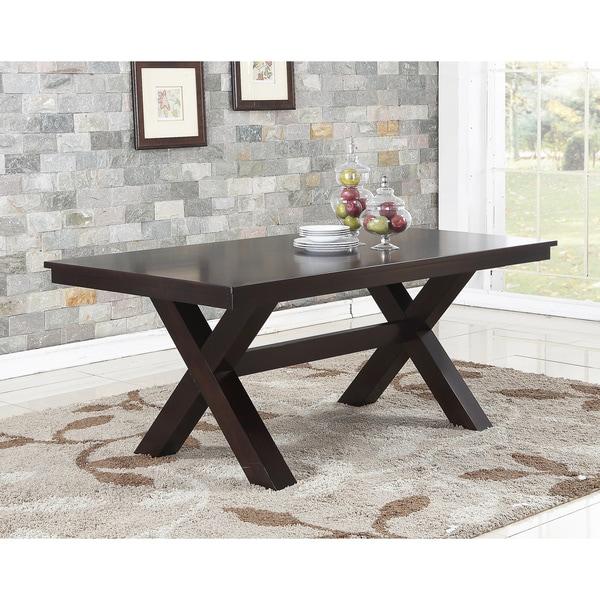 Abbyson Clarkston Espresso Rubberwood Dining Table - Free Shipping