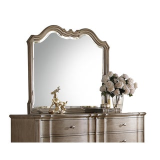 Acme Furniture Chelmsford Antique Taupe Beveled Mirror