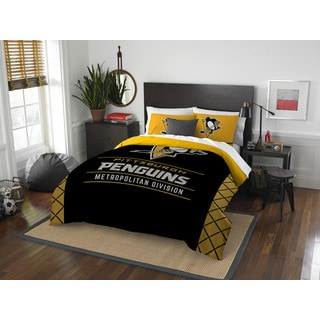 The Northwest Company Polyester Pittsburgh Peguins Draft Full/Queen Comforter (3-piece Set)