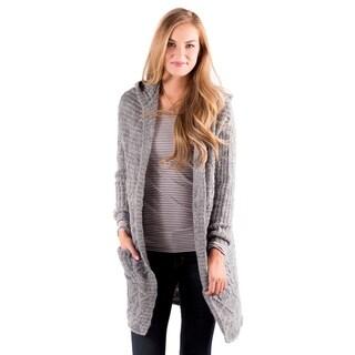 DownEast Basics Women's Stay Warm Grey Cardigan