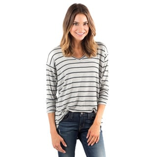 DownEast Basics Women's Cabin Stripe Rayon/Spandex Top