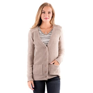 DownEast Basics Women's 'Jackson Hole' Tan Cardigan Sweater