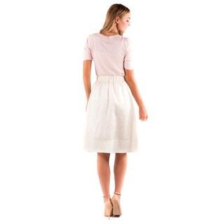 DownEast Basics Women's Polyester Blend Shimmer Shine Skirt