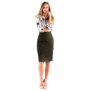 DownEast Basics Women's Hand In Pocket Cotton/Polyester Skirt