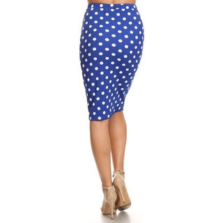 MOA Collection Women's Polka Dot Skirt