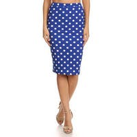 MOA Collection Women's Polka Dot Skirt