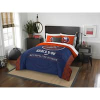 The Northwest Company NHL New York Islanders Draft Blue/Orange Full/Queen 3-piece Comforter Set