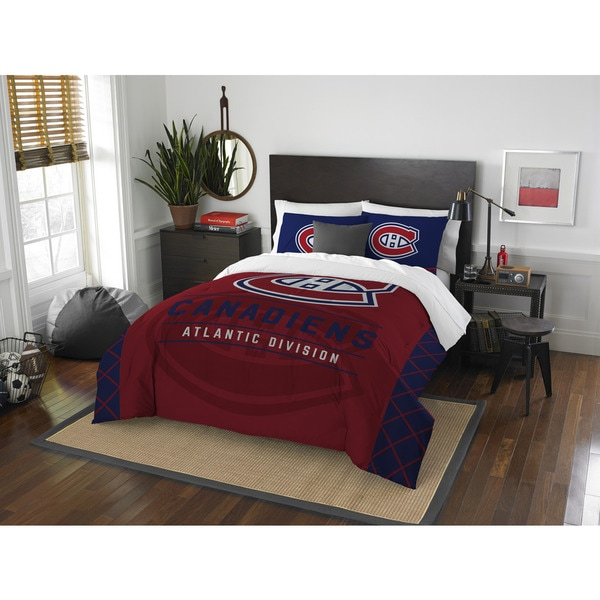 The Northwest Company NHL Montreal Canadiens Draft Full/Queen 3-piece Comforter Set