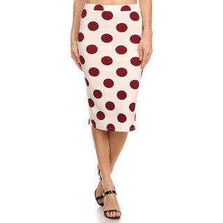MOA Collection Large Polyester Polka-dot Skirt