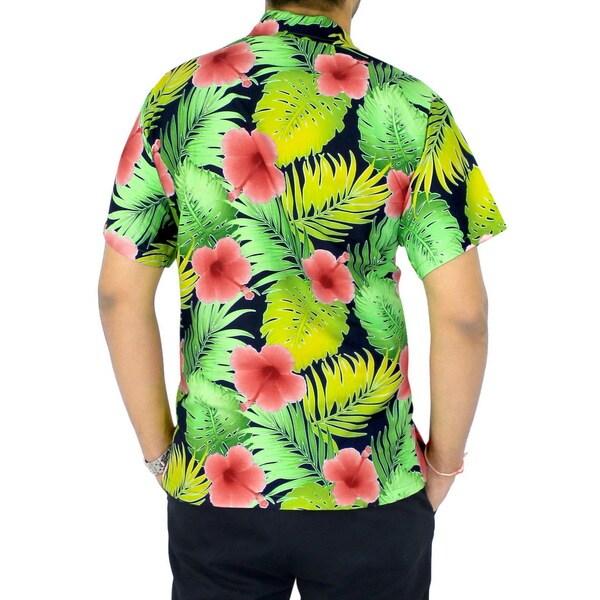 Shop La Leela Men's Silk Floral Button down Relaxed Fit