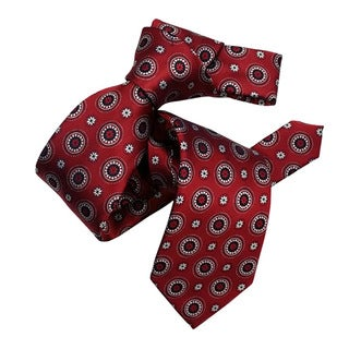 Dmitry Men's Burgundy Italian Silk Patterned Tie