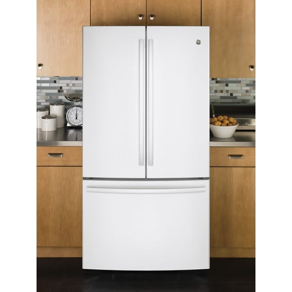 GE Series Energy Star 28.5 cu.ft. French Door White Refrigerator