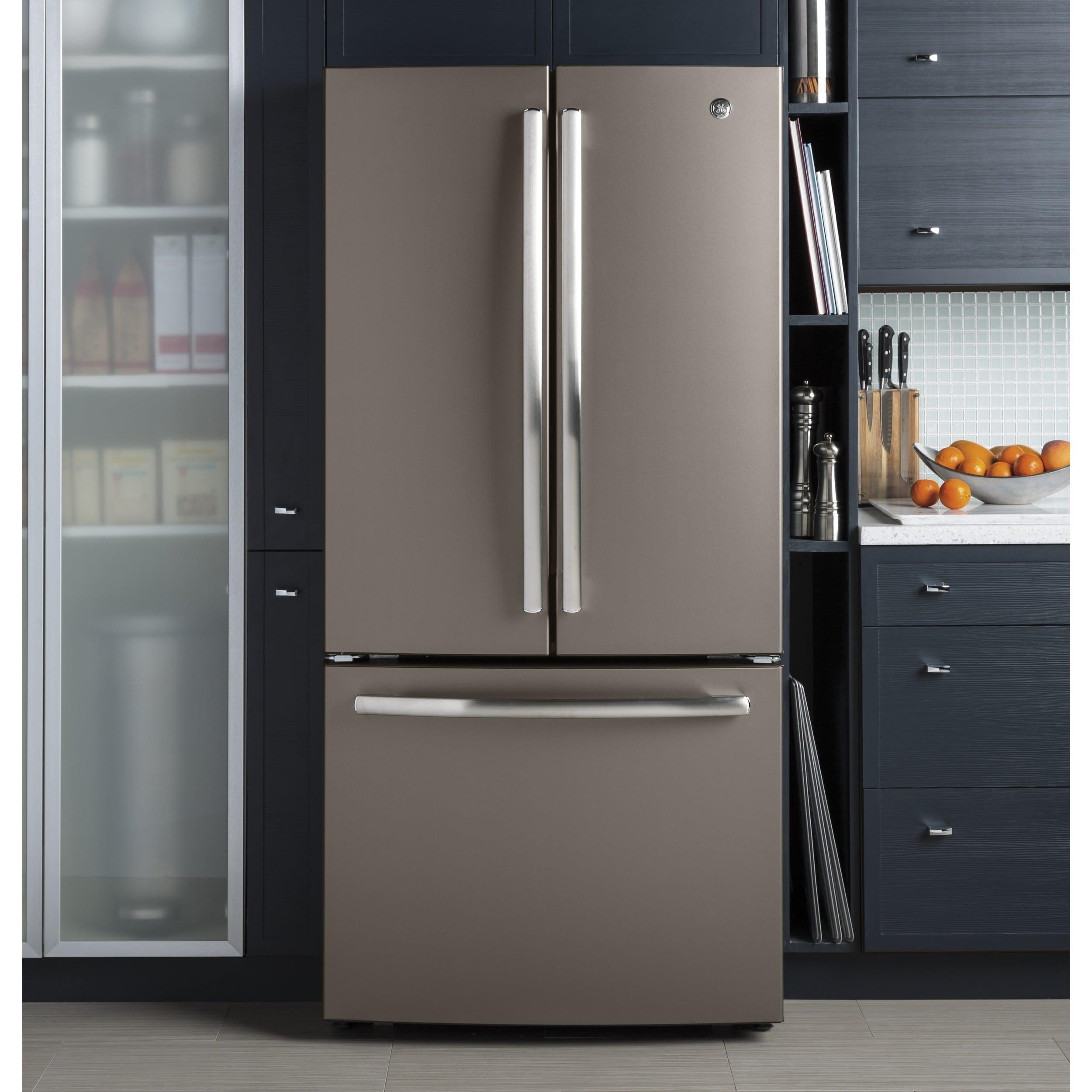GE Series Energy Star 24.8 cubic foot French Door Refrigerator SLATE