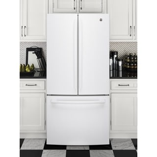 GE Series Energy Star 24.8 cu.ft. French Door White Refrigerator