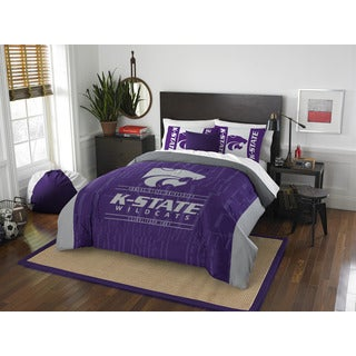 The Northwest Company COL 849 Kansas State Modern Take Grey/Purple Full/Queen 3-piece Comforter Set