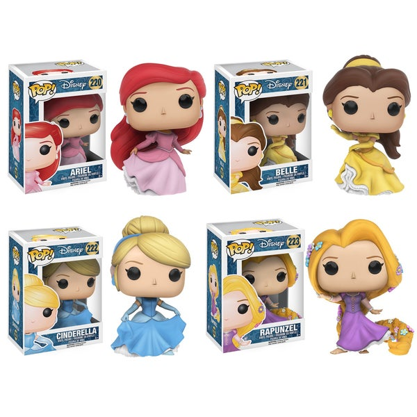 Funko Disney: POP! Princess Ariel, Belle, Cinderella, and Rapunzel Collectors Set