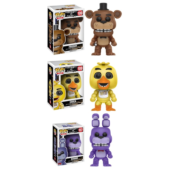 Funko POP! 'Five Nights at Freddy's' Freddy, Bonnie, and Chica Vinyl Games Collectors Set